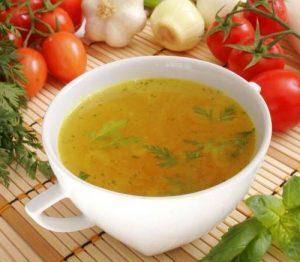 Овощной бульон при данном недуге очень полезен