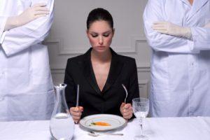 Строгая диета при обострении